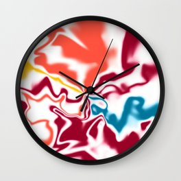 Liquid shapes 4 Wall Clock
