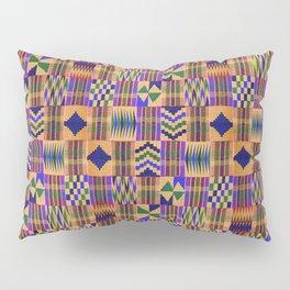 Kente Cloth // Anzac Yellow & Persian Blue Pillow Sham