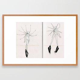 Spokes concept illustrations  Framed Art Print