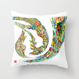 Aurora Festival Throw Pillow