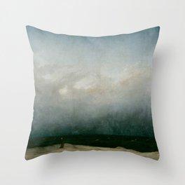 Caspar David Friedrich - The Monk by the Sea Throw Pillow