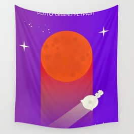 New Horizons Pluto Grand Flypast Wall Tapestry