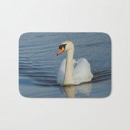 Elegant Mute Swan in the Harbor Bath Mat