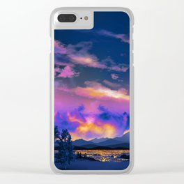 Night Sky Sunset Clear iPhone Case