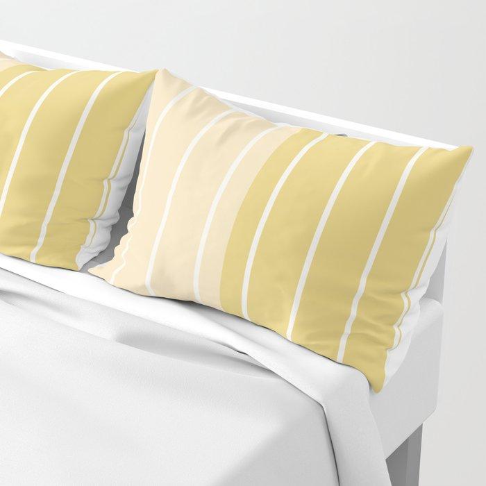 Two Tone Stripes - Yellow Pillow Sham