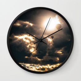 Albuquerque Hot Air Balloon Sunrise Wall Clock