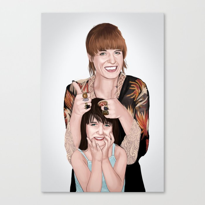 Florence and her kid self  Canvas Print