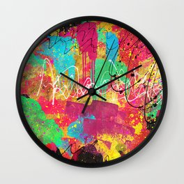 Psichedelic Continents Wall Clock