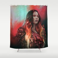 phoenix Shower Curtains featuring Phoenix by Georgina Elizabeth