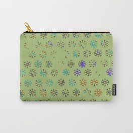 Green Petroglyph Print Carry-All Pouch
