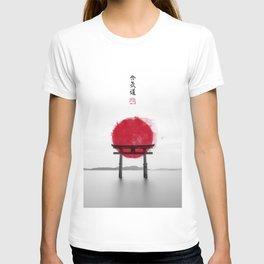JAPANESE HINOMARU FLAG SIGNS T-shirt