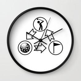 Golfing Golfer Hobby Player Club Wall Clock
