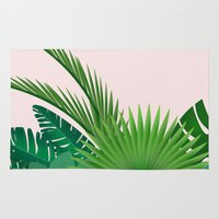 tropical Area & Throw Rugs featuring Tropical by 83 Oranges™
