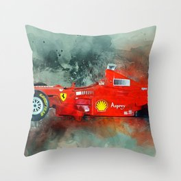 F1 Sports Car Throw Pillow