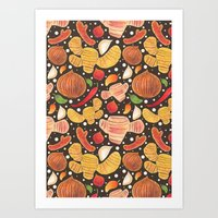 indonesia Art Prints featuring Indonesia Spices by haidishabrina