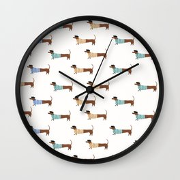 dogs live in paris  Wall Clock