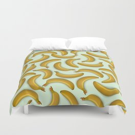 Fruit pattern. Background from bananas with realistic shadows Duvet Cover