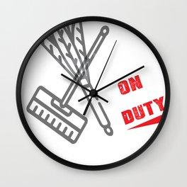 Janitor Wall Clock