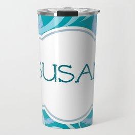 island wave blue -Personalized - Susan Travel Mug
