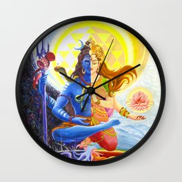 Shiva and Shakti Wall Clock