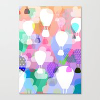 hot air balloons Canvas Prints featuring Hot air balloons by Ingrid Castile