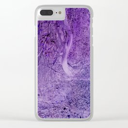 Season of the Land - Purple Storm Clear iPhone Case