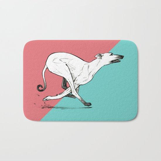 Run Greyhound! Bath Mat