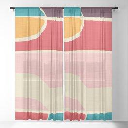 Wondering Waves #homedecor #midcenturydecor Sheer Curtain