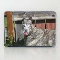 greyhound iPad Cases featuring Greyhound by Kamilla