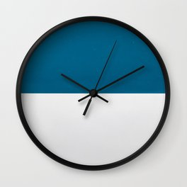 Blue over White Wall Clock
