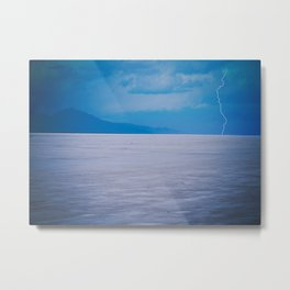 Lightning on the Utah Salt Flats Metal Print