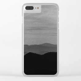 Fine mountains lines Clear iPhone Case