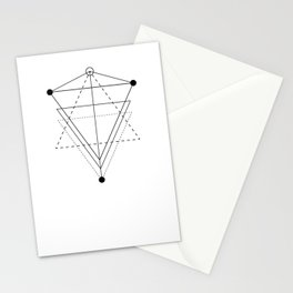 Triangle planets geometry white Stationery Cards