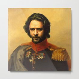 Russell Crowe - replaceface Metal Print