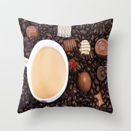 Coffee And Chocolate Delight Throw Pillow