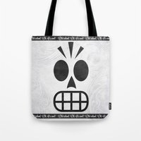 grim fandango Tote Bags featuring GRIM FANDANGO - OLD SCHOOL, OH, IT'S COOL! by Be Yourself