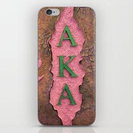 Alpha Kappa Alpha Sister In Profile I iPhone Skin