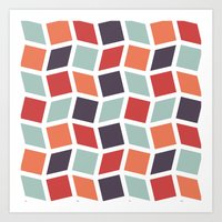 Squares and Diamonds 3 Art Print