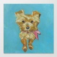 terrier Canvas Prints featuring Terrier by Dani Brandimarte