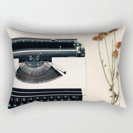 The Nostalgic Typewriter (Retro and Vintage Still Life Photography) Rectangular Pillow