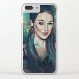 Universe Mermaid Vibes Clear iPhone Case