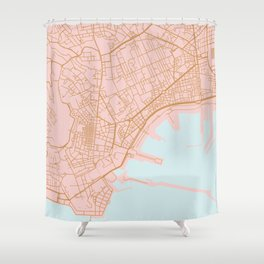 Napoli map Italy Shower Curtain