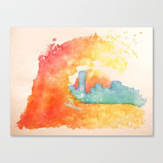 Bienvenido a Miami Canvas Print