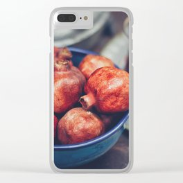 Figs in a blue bowl - Morocco Clear iPhone Case