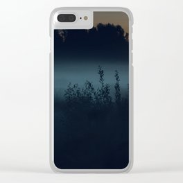 [35] Fog in the evening forest, nature, travel Clear iPhone Case