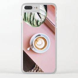 pink latte Clear iPhone Case