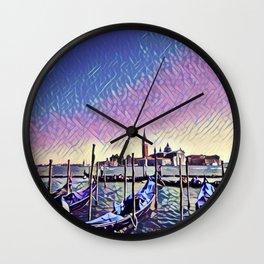 Venice Gondolas Wall Clock