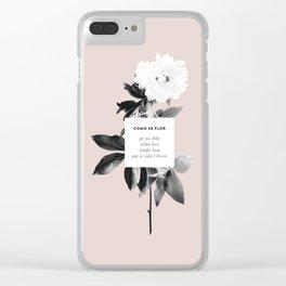 Como Se Flor Clear iPhone Case