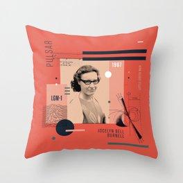 Beyond Curie: Jocelyn Bell Burnell Throw Pillow