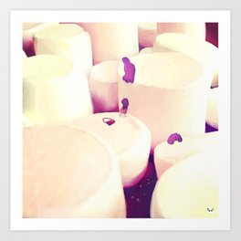 Marshmallow Mountain Art Print